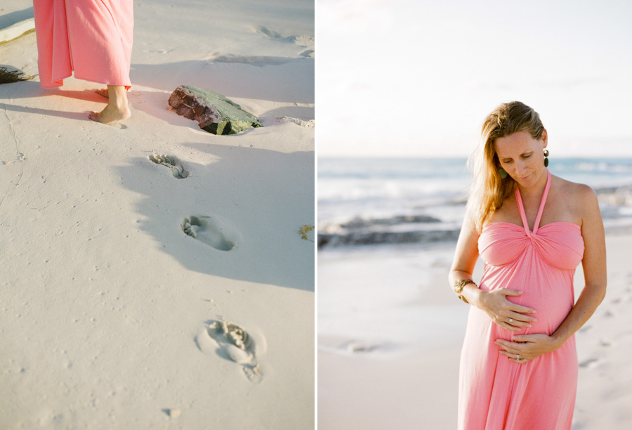 c8318783eb815 ... pretty pink dress walking on the beach Bunn Salarzon - beach maternity  photo session on turks and caicos islands. «