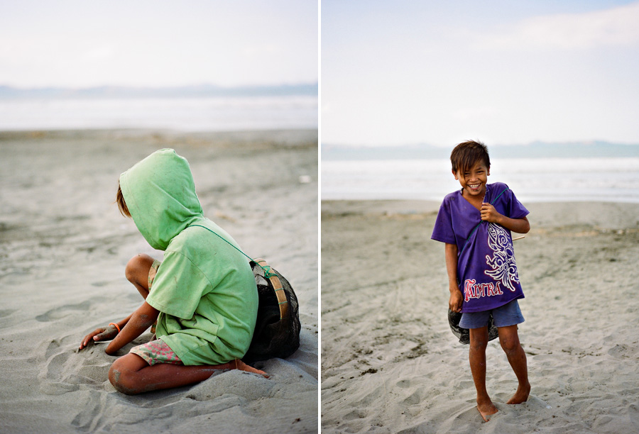 Bunn Salarzon - young boys playing on the beach in the philippines