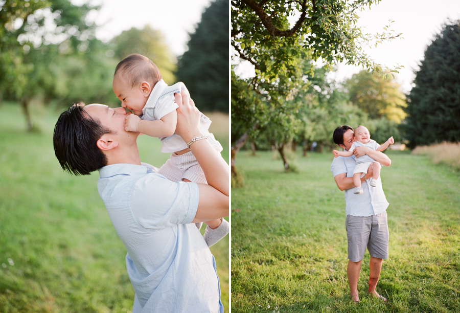 Bunn Salarzon - cute eskimo kiss daddy and baby boy