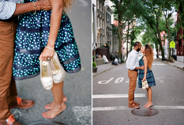 Bunn Salarzon - girl kissing guy in middle of street in nyc