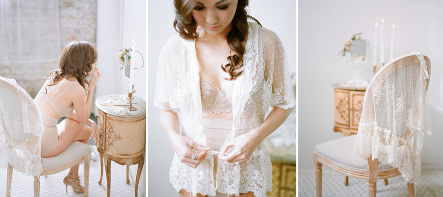 Bunn Salarzon - gorgeous bridal boudoir of woman wearing white lace