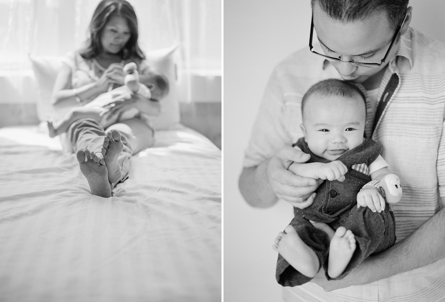 Bunn Salarzon - newborn photography in black and white