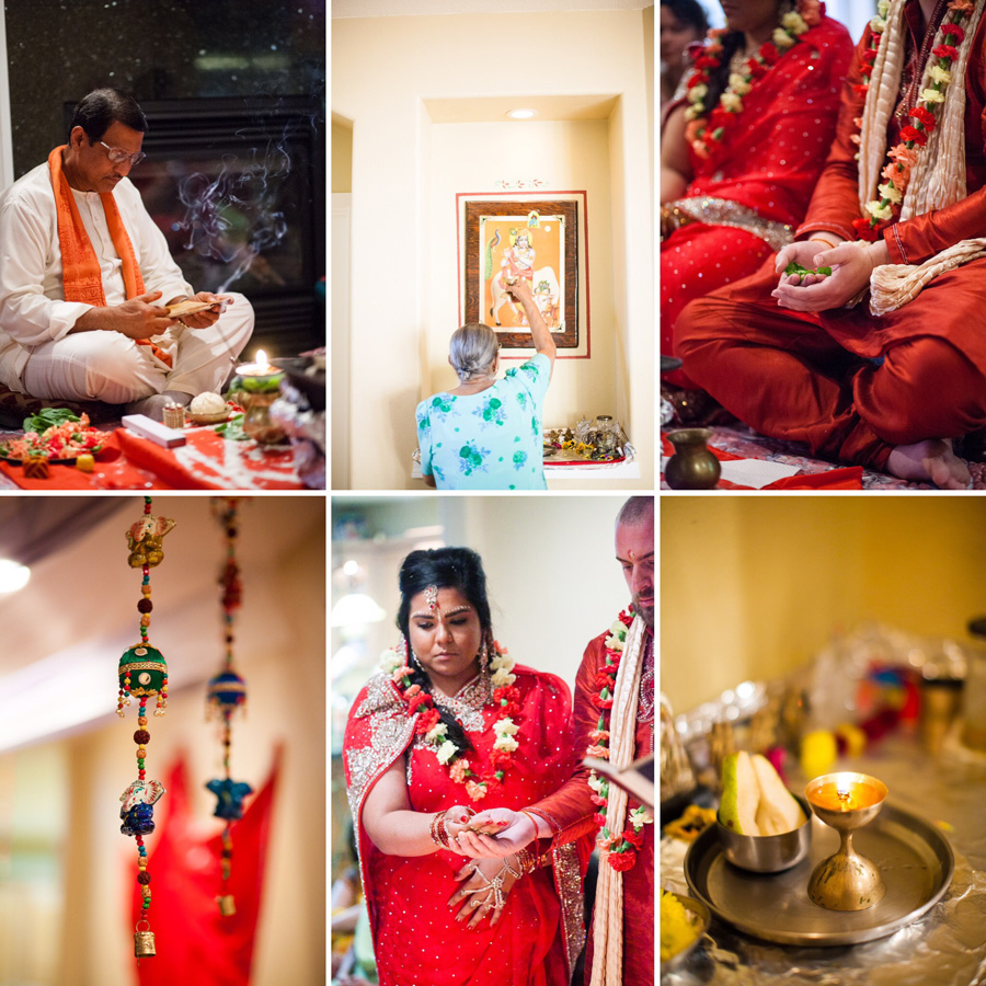 Bunn Salarzon - indian hindu wedding ceremony at home