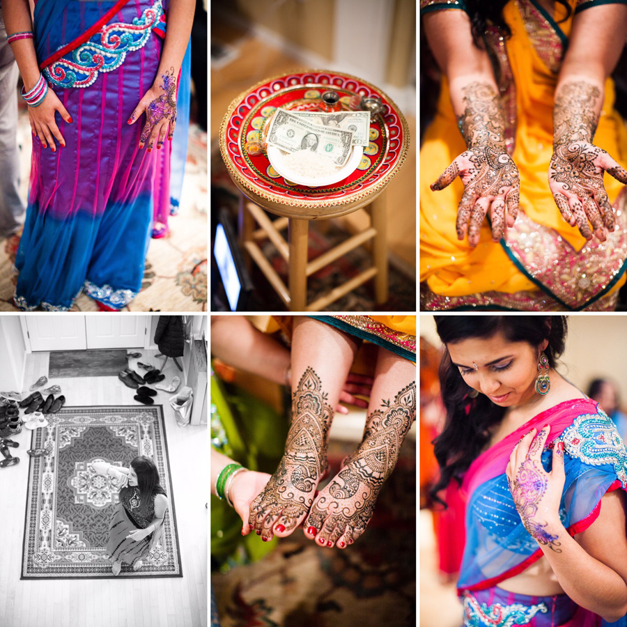 Bunn Salarzon - indian bride at henna design and mehndi party
