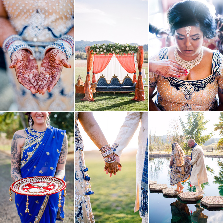 Bunn Salarzon - portland indian wedding photography at the water oasis
