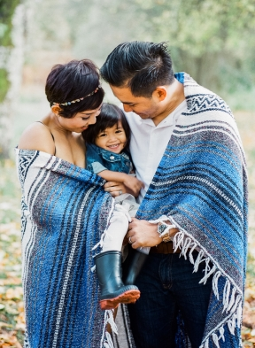 Bunn Salarzon - family pictures wrapped in blanket
