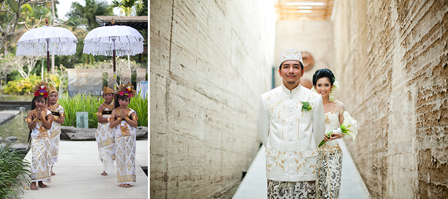 Bunn Salarzon - indonesian wedding in bali with traditional wedding attires