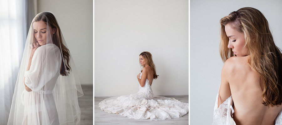 bridal boudoir in portland studio